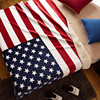 USA flag fleece blanket Thick polar fleece composite carpet Lamb fur blanket sherpa blanket