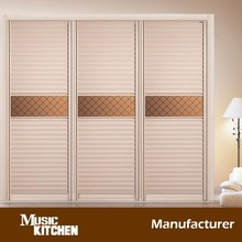 High quality sliding door double color wardrobe