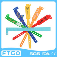 Wide Shape PVC armbands/Adult children size pvc wristbands/Cheap Custom PVC Tag