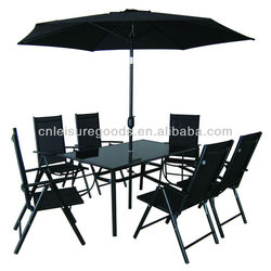 8pcs set sling aluminium garden furniture