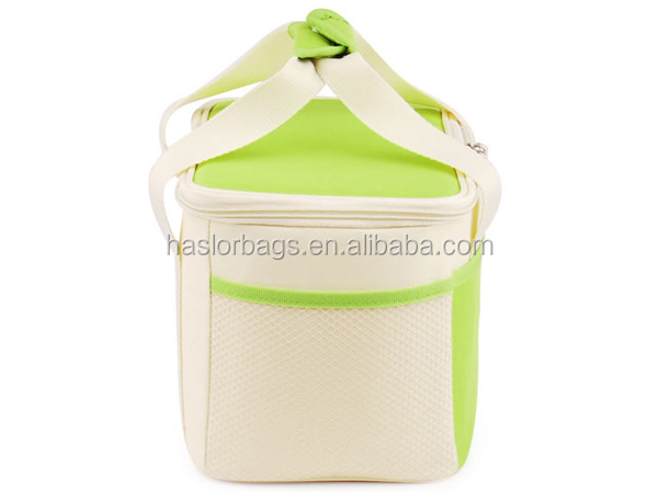 Wholesale Custom Polyester Insulated Cooler Bag With Mesh Pocket