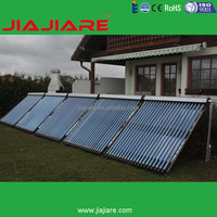 High heating efficiency heat pipe vacuum tube pressured solar collector for solar solar heating system