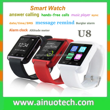 ebay hottest selling U8 Smart Watch Bluetooth Wrist Smartphone for ios android phone