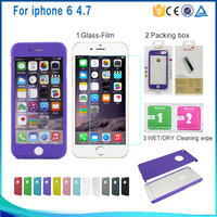 Alibaba new arrival full protective mobile phone case for apple iphone 6 6s cover with tempered glass protector