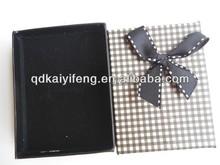 Beautiful small black paper ribbon Lipstick box gift boxes