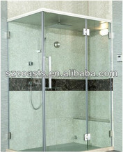 Glass steam bath room