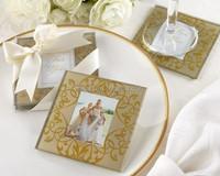 Wedding Favors Photo Frame Glass Coaster
