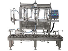 Four- head viscosity gear oil weighing filling machine
