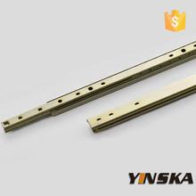 High quality mini cabinet hardware 27mm 2-fold drawer slide