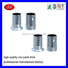 customized pipe joint clamp stainless steel fittings cnc turning parts