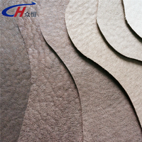 Any color natural leather pattern embossing and bonded knitting fabric base breatheable fabric sofa from China Haning