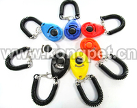 Hot sale dog accessories pet training clicker with strap OS008