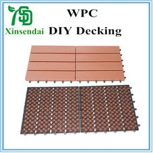 CE certificate wpc diy decking tiles for sale