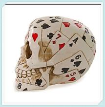 Wholesale Dead Mans Hand Card Design Resin Halloween Skull