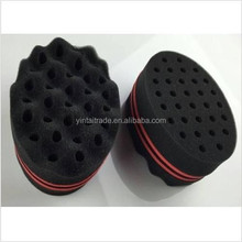 2015 new products in china Double sided Lock Twist Sponges /Curles Hair Brush For Hair Salon