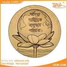 High quality cheap custom 3d souvenir matt gold coin