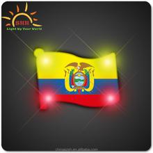 Flag Shape LED Lighting Badge/Custom LED flag badge/flag badge for national day