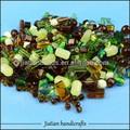 mezcla de perlas de vidrio para la fabricación de joyas con topacio y color verde