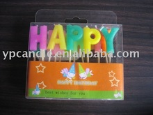 Happy Birthday Letter Candles for birthday party