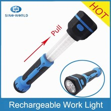HOT product low price alibaba China 6+30LED Ni-MH battery operated rechargeable led magnetic work light