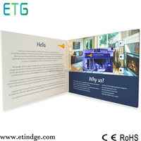 New fashion high quality 7inch video business card brand/video business brochure/video booklet