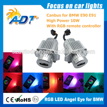 Wifi 10W RGB Angel Eye for BMW E90 E91, wireless led marker control by phone