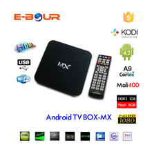 Dual Core Full HD 1080P MX Smart Android TV Box 4.4.2
