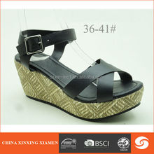 2015 wedge sandals PU strap upper