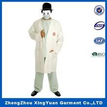 hospital men doctor uniform /men work uniform,Top quality White Doctor costume for halloween party