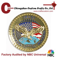 Wholesale factory new metal gold eagle souvenir 3D embossed challenge coins