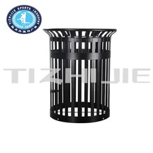 Modern style cast iron Large Public Dustbins for waste sorting