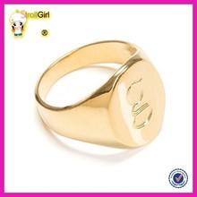 2015 fashion alibaba website hot sale signet ring custom gold plated signet ring for men