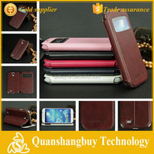 High quality cell phone window flip cover for SamSung I9500 GALAXY SIV S4 Case