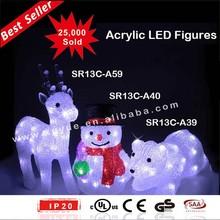 acrylic led christmas decorations lights deer