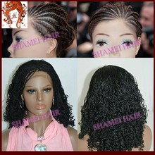 2015 Factory Wholesale Cheap Synthetic Lace Front Kinky Twist Braided Lace Wig