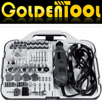 163pcs 135W Mail Order With Flex Shaft Portable Hobby Rotary Tools Kit Accessory Set Electric Mini Grinder Tools for Jewelry