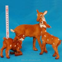 realistic artificial furry wholesale plush bulk plastic deer toy