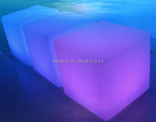 3D glowing rechargeable battery remote control led lighting cube chair furniture