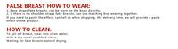 Товары для придания формы женской груди Fake Breast Gestante CrossDresser 300 AR150