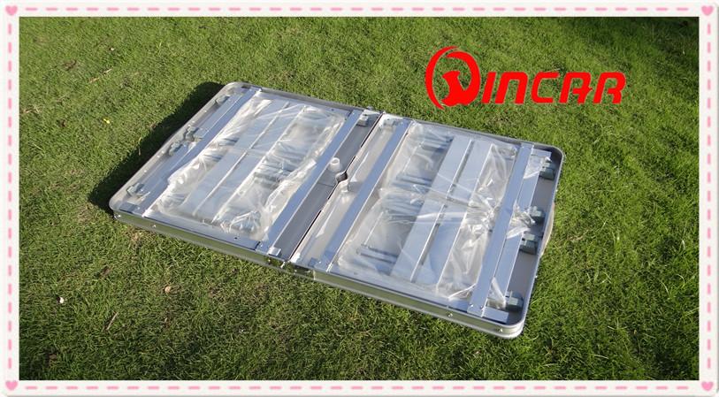 야외 알루미늄 휴대용 접이식 야외 캠프 가방 피크닉 테이블 4 석 ...