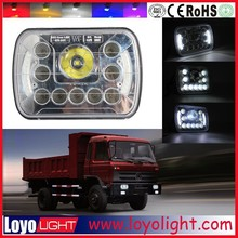 Newest!!! square 7 inch led headlight for truck, tractor with angel eyes 45W 5x7 led headlight