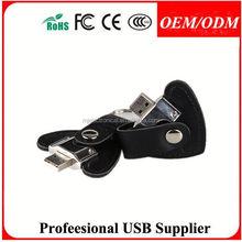 leather wristband usb stick custom logo flash card and leather usb pendrives , leather organizer notebook