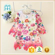 bambino vestito ragazze boutique autunno a basso prezzo indossare abiti casual bambini ragazzi ragazze tessuto motivo floreale