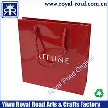 Luxury custom logo printed shopping paper bag high quality gift paper bag