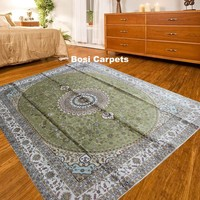 8x10ft online wholesale Bloom flowers light color Kashmir hand knotted silk rug