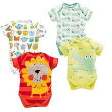 2015 new designs little kids lion and crocodile design summer romper groups