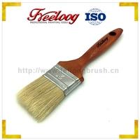 "Wall decorative 2"" pig bristle hair paint brush marron color wooden handle"