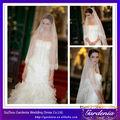 2014 mejor vendedor popular blanco borde de encaje de la boda velo musulmán de velo de novia de la boda velos y accesorios