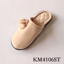 stitching women indoor slipper with TPR out sole