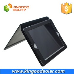 PVC material 8000mah built-in battery 2W solar panel solar charger case for mini ipad